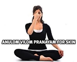 Anulom Vilom Pranayam for glowing Skin