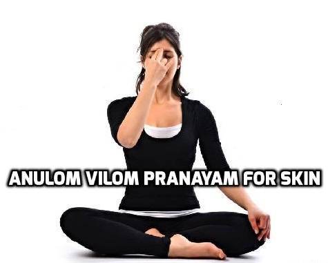 Anulom Vilom Pranayam for glowing Skin