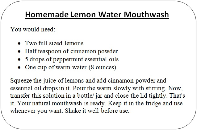 How to use lemon for bad breath