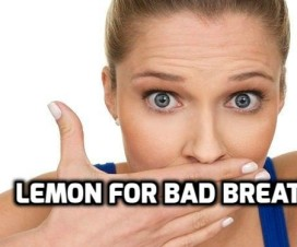 Lemon for bad breath
