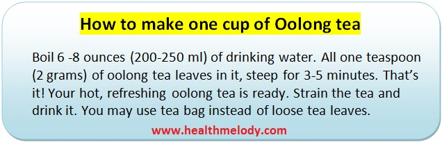 Oolong tea brewing and constipation