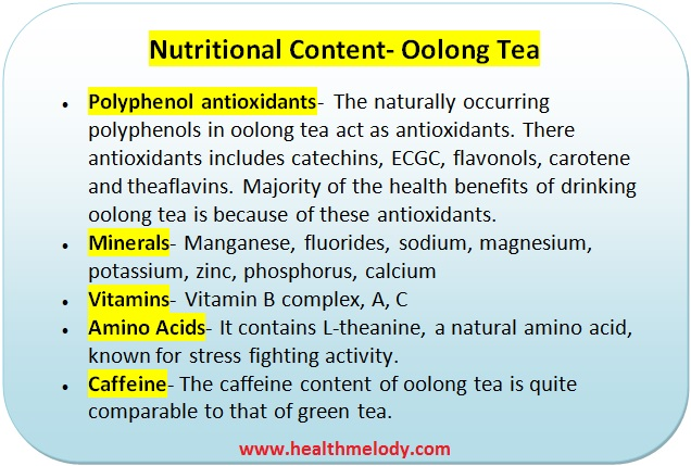 Oolong tea nutrients and constipation