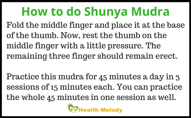 How to do Shunya Mudra for thyroid problems