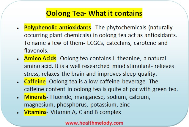 Oolong tea nutrients and high blood pressure