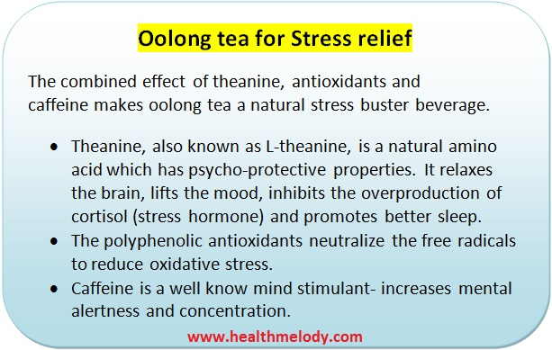Oolong tea stress relief and digestion