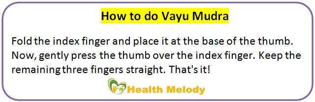 Vayu mudra for stomach problems