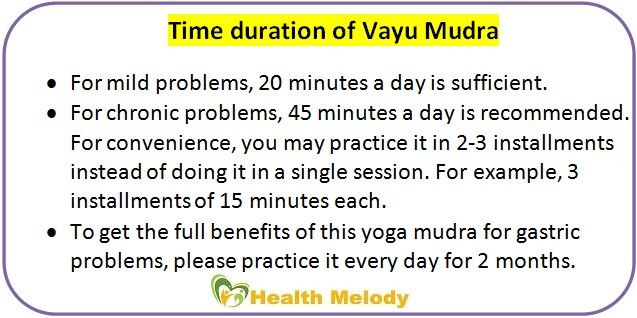 Vayu yoga mudra for gastric pain and problems
