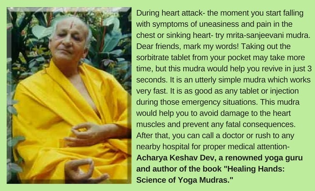 Apana vayu mudra for heart attack