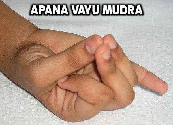 Apana vayu mudra for heart disease