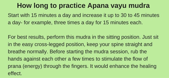Apana vayu mudra for heart pain