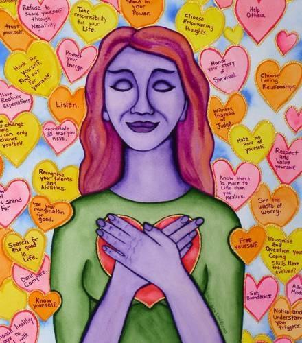 Self love or laughter mudra