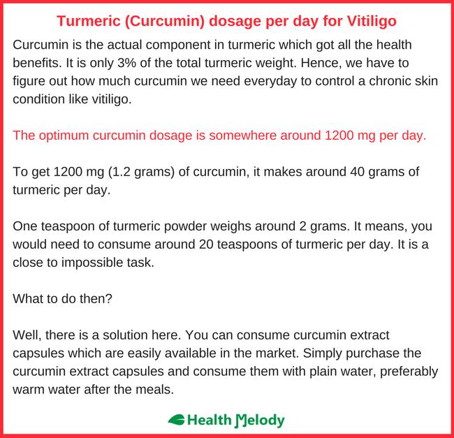 Curcumin Vitiligo