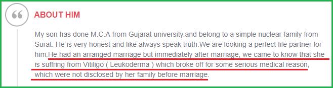 Vitiligo Leucoderma Marriage Divorce Problem