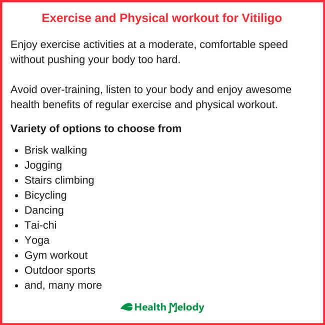 Physical Exercise Gym workout Vitiligo Leucoderma