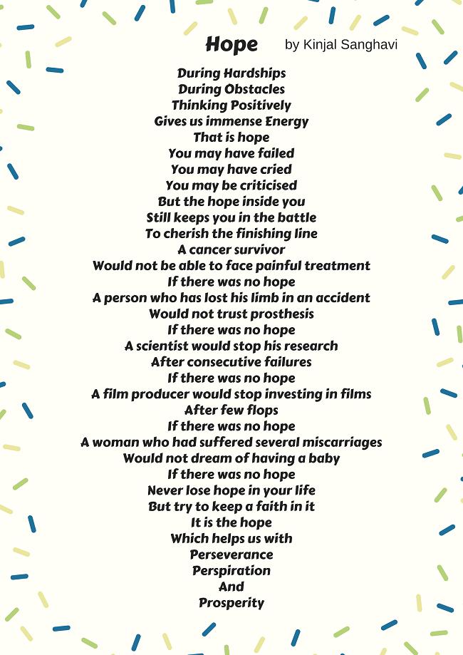 Hope Vitiligo Poem Kinjal Sanghavi