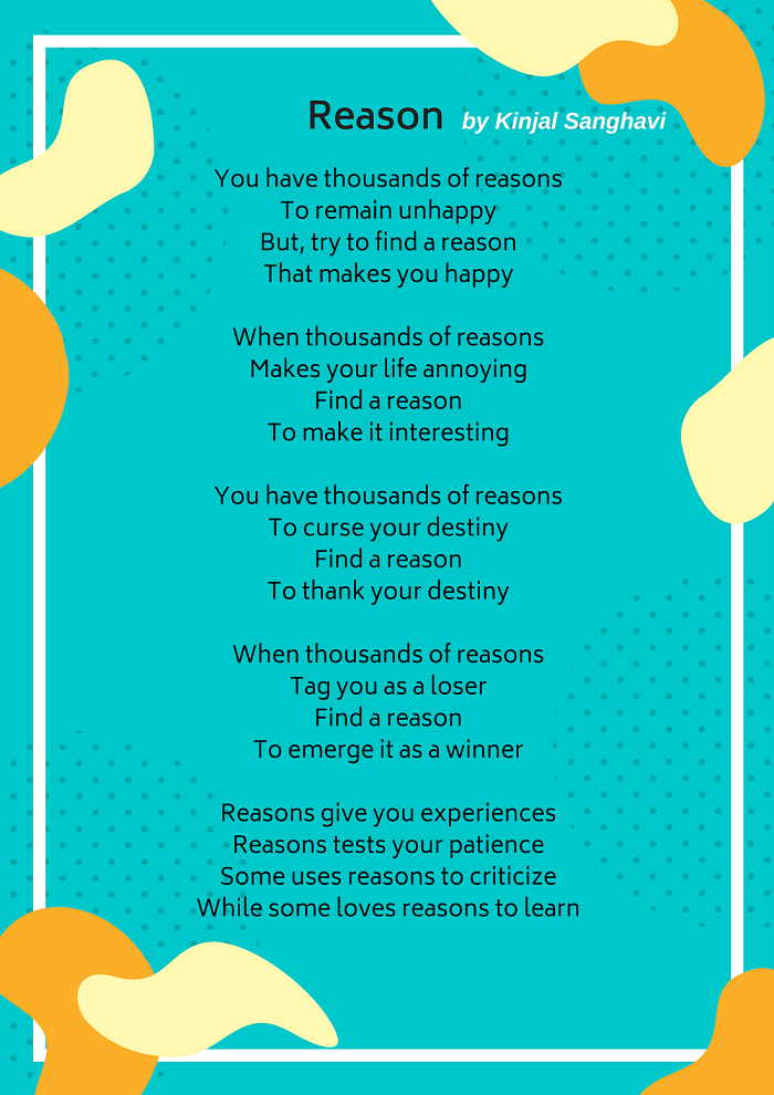 Reason Vitiligo Poem Kinjal Sanghavi