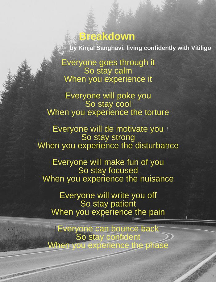Vitiligo Poem Breakdown Kinjal Sanghavi